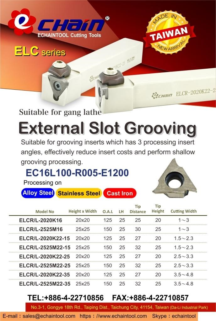 External Slot Grooving ELC series with Echaintool_TW
